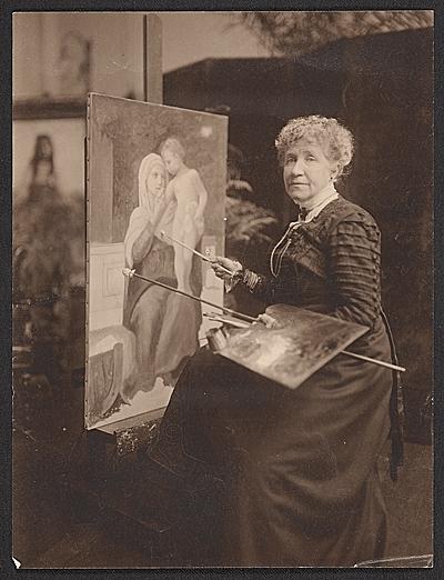 [Elizabeth Gardner Bouguereau in her studio]