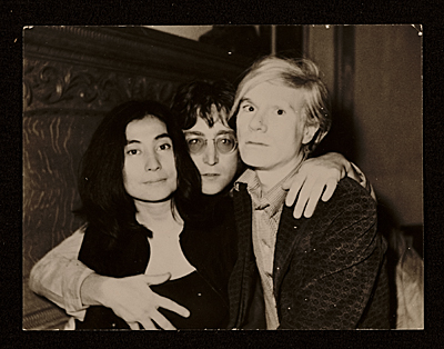 Yoko Ono, John Lennon and Andy Warhol