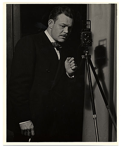 Harry Bowden taking a photograph