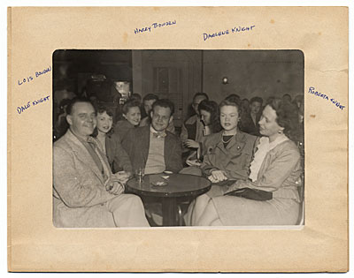 Harry Bowden with friends in a bar