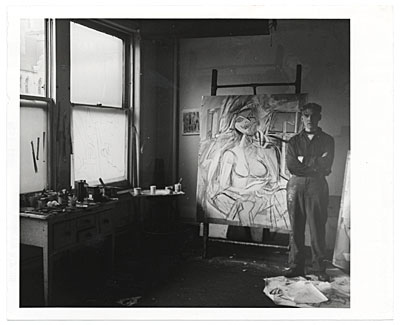 [Willem de Kooning in his studio]