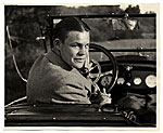 Harry Bowden in a car