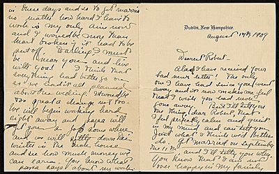 Nancy Douglas Brush letter to William Robert Pearmain