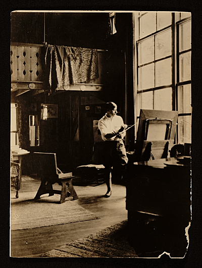 [Paul Bransom in his studio at Canada Lake, N.Y.]