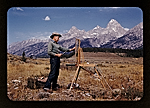 Paul Bransom plein air painting at Grand Teton, Wyoming
