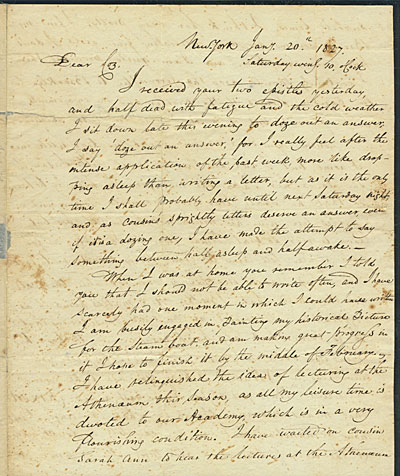 Samuel Finley Breese Morse, New York, N.Y. letter to Elizabeth Breese