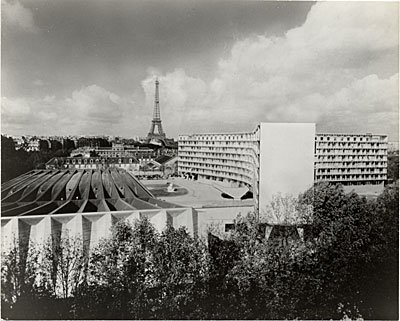 [UNESCO Headquarters in Paris. Marcel Breuer and Bernard Zehrfuss, Architects; Pier Luigi Nervi, Structural Engineer]