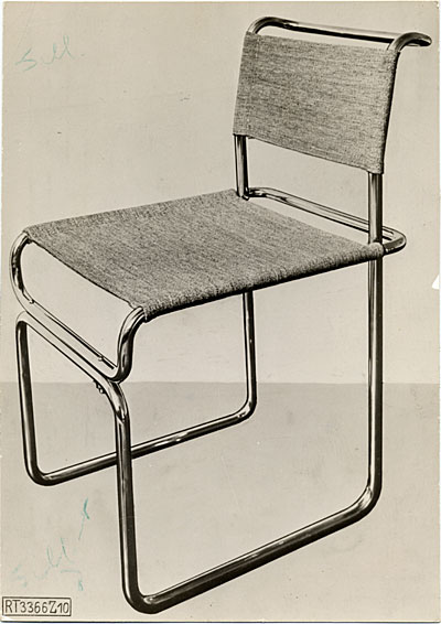 [Tubular steel chair designed by Marcel Breuer]