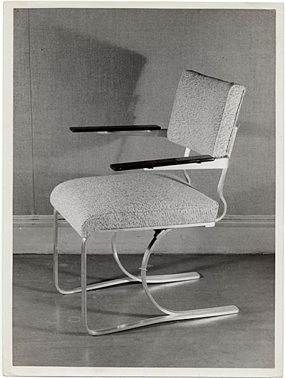 [Aluminum chair designed by Marcel Breuer]