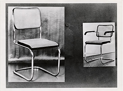 [Cesca dining room chair designed by Marcel Breuer]