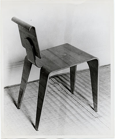 [Isokon chair designed by Marcel Breuer]