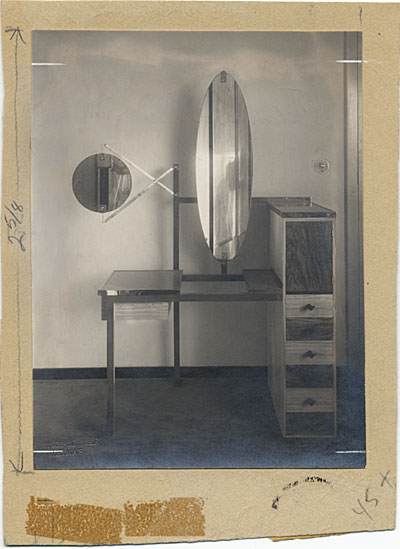 Dressing table designed by Marcel Breuer