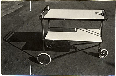 Tea cart designed by Marcel Breuer