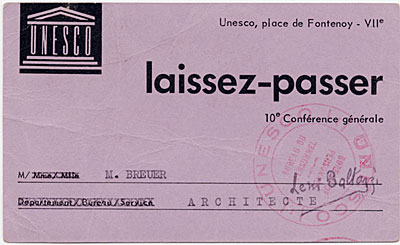 UNESCO pass to the Tenth General Conference