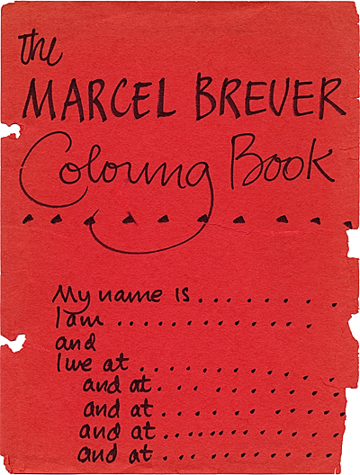 The Marcel Breuer coloring book