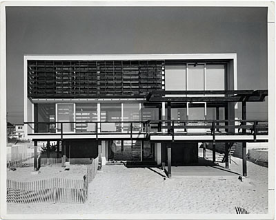 [McMullen Beach House, Mantoloking, New Jersey. Marcel Breuer and Herbert Beckhard, architects. Ben Schnall, photographer]