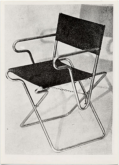 [Folding chair, designed in 1928 by Marcel Breuer]