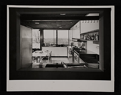 [Gagarin House I, Conn., designed by Marcel Breuer.  Interior view]