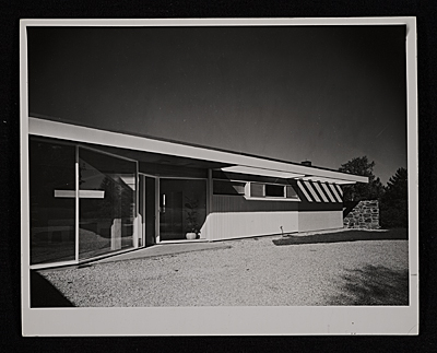 [Gagarin House I, Conn., designed by Marcel Breuer.  Entrance view]