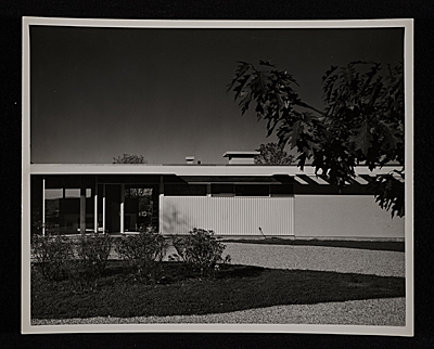 [Gagarin House I, Conn., designed by Marcel Breuer. Partial entrance view]