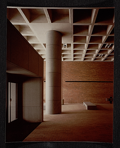 Strom Thurmond Federal Office Building and Courthouse designed by Marcel Breuer. View of interior