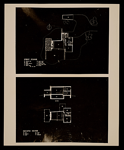 [Marcel Breuer House, Lincoln, Mass., floor plan]
