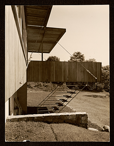 [Breuer House, New Canaan, Conn.. Rear entrance]