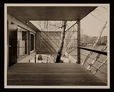 [Caesar Cottage, Lakeville, Conn., designed by Marcel Breuer. Rear view]