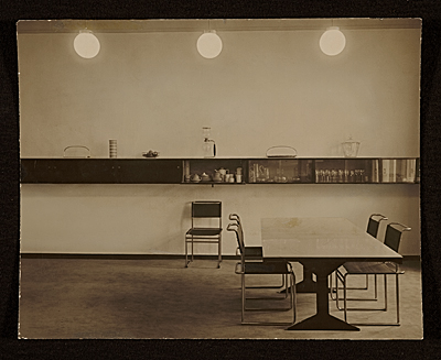 Speisezimmer apartment, Berlin, Germany, designed by Marcel Breuer. Interior view