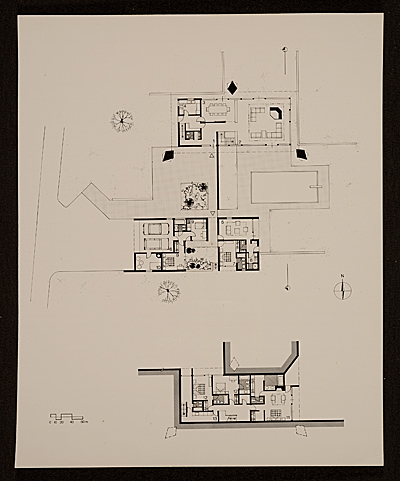 Plan for: Saier House in Glanville-Calvados, France, designed by Marcel Breuer and Mario Josa