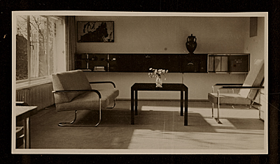 [Harnischmacher House in Wiesbaden, Germany, designed by Marcel Breuer. Interior view]