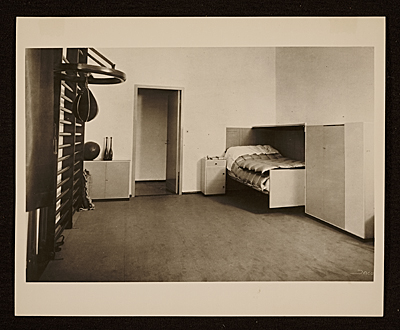 [An interior view of the Piscator apartment designed by Marcel Breuer in Berlin, Germany]