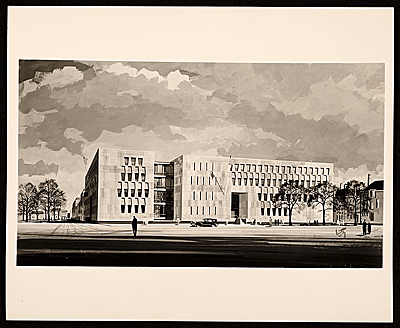 Rendering of the U.S. Embassy in The Hague, Netherlands
