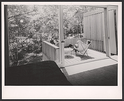 [Stillman house I, interior and deck]