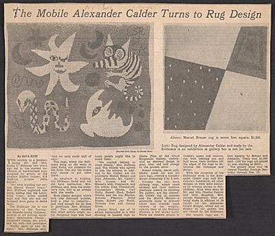[The mobile Alexander Calder turns to rug design]