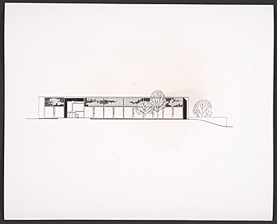 Reproduction of a plan for the library at St. Johns Abbey and University in Collegeville, Minn.