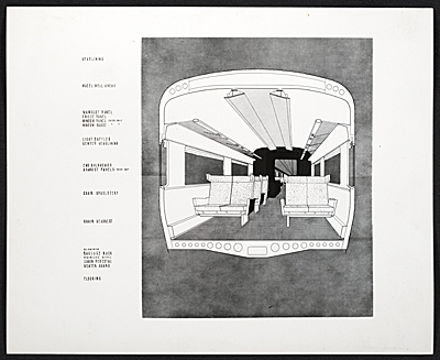 [Plan showing interior of a train car for New Haven Railroad, ACF Industries