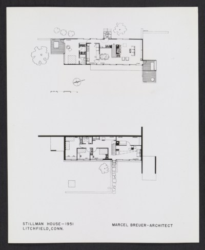 [Plans for Marcel Breuer's Stillman House]