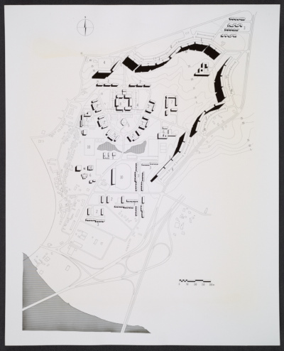 The site plan for the Bayonne, France