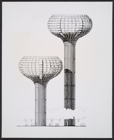 Municipal water towers for the Bayonne, France