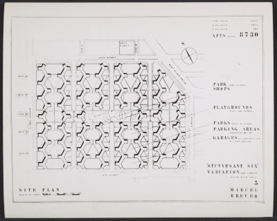 Site plan for the Stuyvesant Six Housing Development