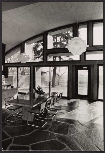 An interior view of Geller House II in Lawrence, New York (on Long Island)