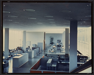 An interior view of the IBM Corporation in La Gaude, France