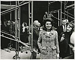 Marcel Breuer and Jacqueline Kennedy touring the construction of the Whitney Museum of American Art