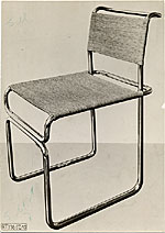 [Tubular steel chair designed by Marcel Breuer ]