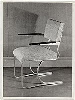 Aluminum chair designed by Marcel Breuer