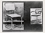 Cesca dining room chair designed by Marcel Breuer