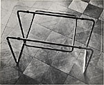 Coffee table designed by Marcel Breuer