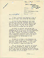 Henry Moore, Much Hadham, England letter to Marcel Breuer, New York, N.Y.