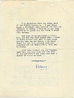 [Henry Moore, Much Hadham, England letter to Marcel Breuer, New York, N.Y. page 2]